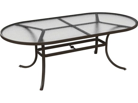 Tropitone Cast Aluminum 84 x 42 Oval Acrylic Dining Table