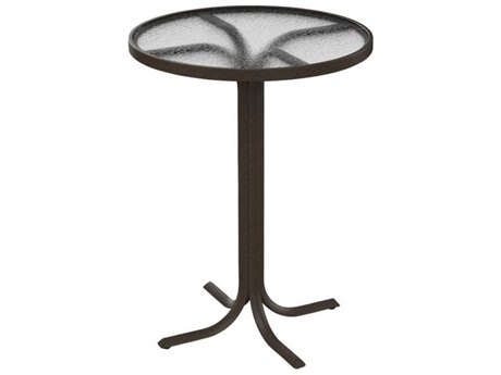 Tropitone Acrylic Cast Aluminum 30''Wide Round Bar Table