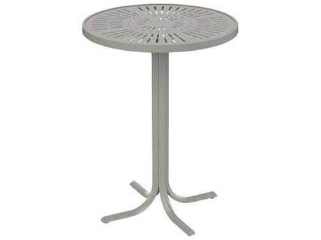 Tropitone Patterned La'stratta Aluminum 30''Wide Round Bar Table