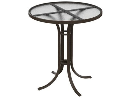 Tropitone Cast Aluminum 36 Round  Acrylic Bar Table