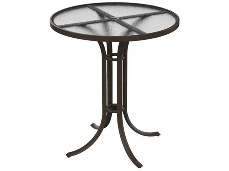 Tropitone Cast Aluminum 36 Round Acrylic Bar Table  with Umbrella Hole