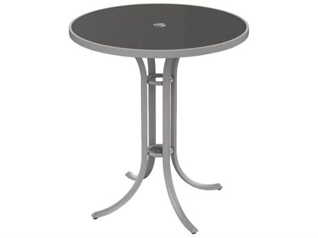 Tropitone Hpl Raduno 36 Round Bar Table with Umbrella Hole
