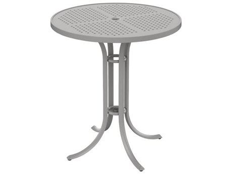 Tropitone Patterned Aluminum Boulevard 36 Round Bar Umbrella Table