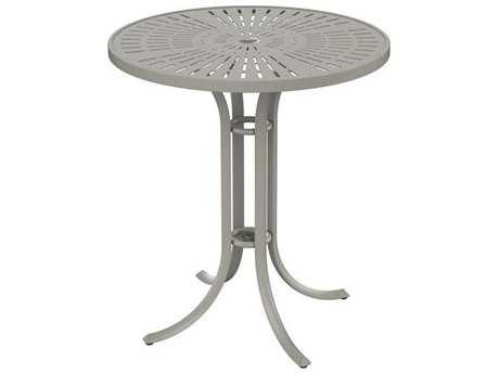 Tropitone Patterned Aluminum La'stratta 36 Round Bar Umbrella Table