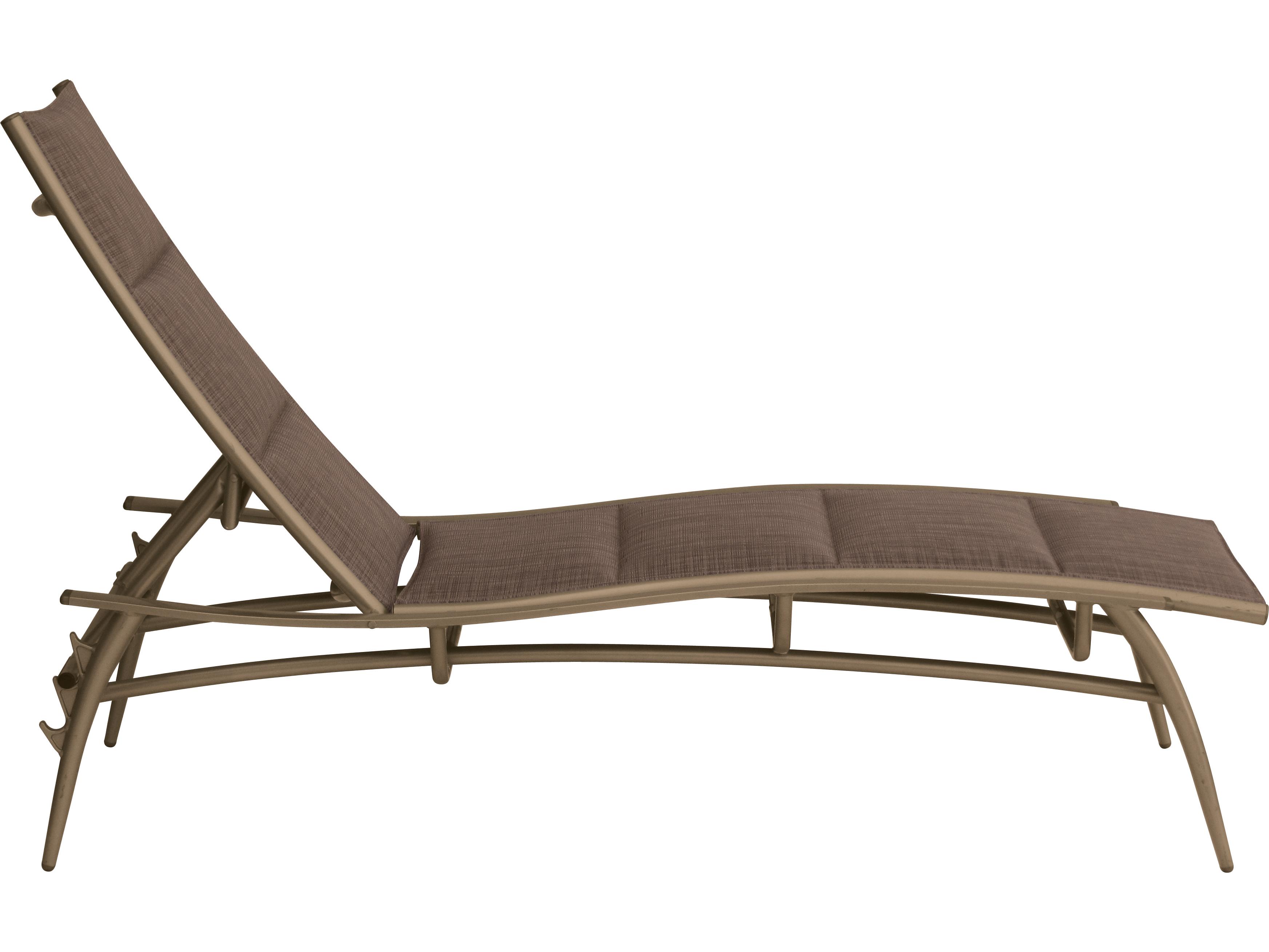 Tropitone echo padded sling aluminum chaise lounge 189932ps for Aluminum strap chaise lounge