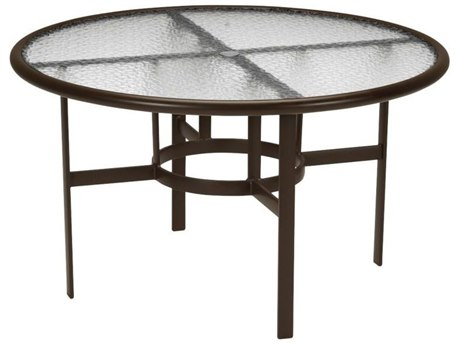 Tropitone Aluminum 48 Round Dining Table with Umbrella Hole TP190348AU