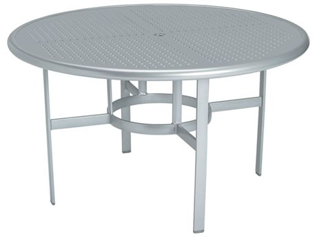 Tropitone Boulevard Aluminum 48 Round Dining Table with Umbrella Hole TP190348SBU