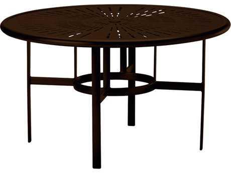Tropitone La Stratta Aluminum 48 Round Dining Table with Umbrella Hole