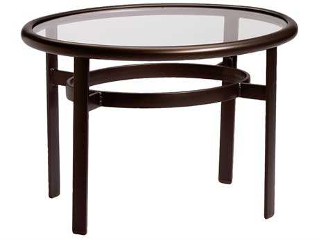 Tropitone Cast Aluminum 25 x 33 Oval Smoked Top End Table