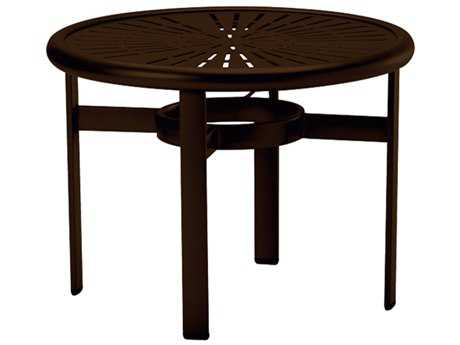 Tropitone La Stratta Aluminum 24 Round End Table