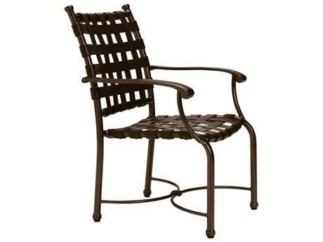 Tropitone Sorrento Cross Strap Cast Aluminum Dining Chair