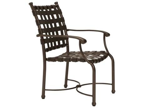 Tropitone Sorrento Cross Strap Extruded Aluminum Dining Chair