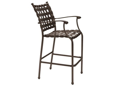 Tropitone Sorrento Cross Strap Extruded Aluminum Bar Stool