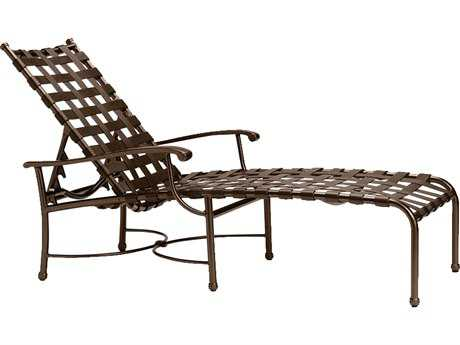 Tropitone Sorrento Cross Strap Cast Aluminum Chaise