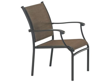 Tropitone Sorrento Relaxed Sling Extruded Aluminum Dining Arm Chair