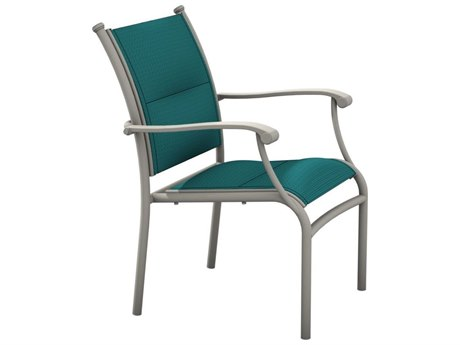 Tropitone Sorrento Padded Sling Extruded Aluminum Dining Chair PatioLiving