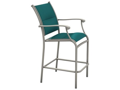 Tropitone Sorrento Padded Sling Extruded Aluminum Bar Stool PatioLiving