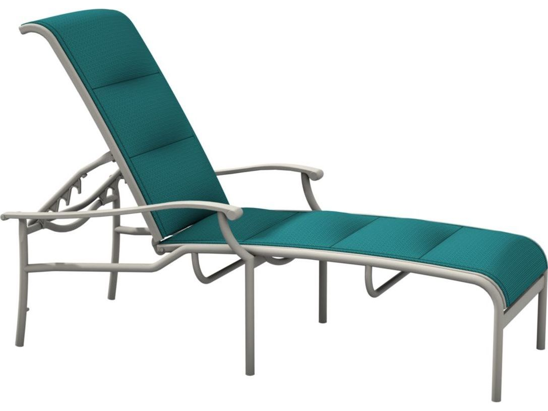 Tropitone sorrento padded sling extruded aluminum chaise for Chaise aluminium