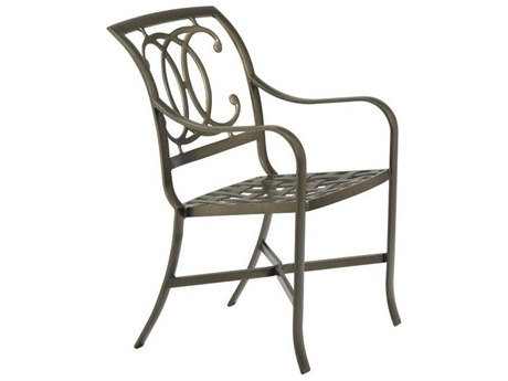 Tropitone Palladian Double C Back Cast Aluminum Dining Arm Chair