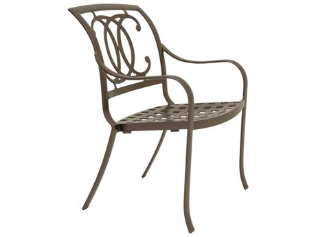 Tropitone Palladian Double C Back Aluminum Dining Chair with Cast Seat