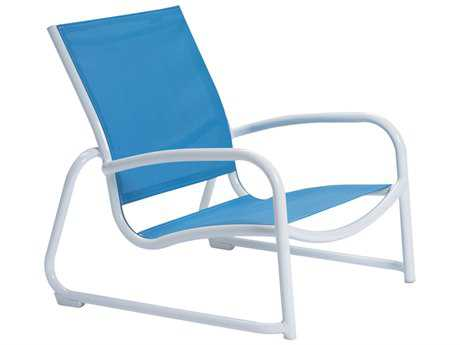 Tropitone Millennia Relaxed Sling Aluminum Stackable Lounge Chair