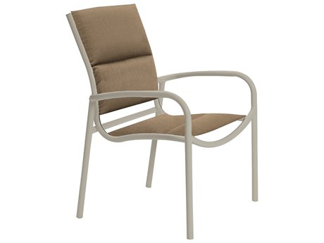 Tropitone Milennia Padded Sling Aluminum Dining Chair