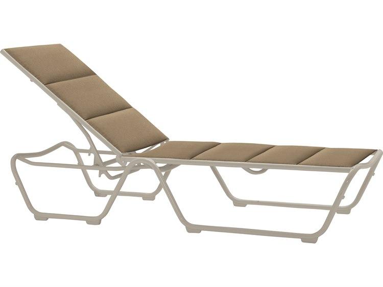 Tropitone Milennia Padded Sling Aluminum Chaise Lounge PatioLiving