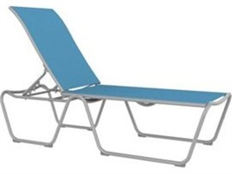 Tropitone Millennia Relaxed Sling Aluminum Stackable ADA Chaise Lounge PatioLiving