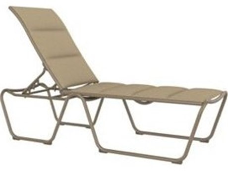 Tropitone Milennia Padded Sling Aluminum Stackable Armless Chaise Lounge