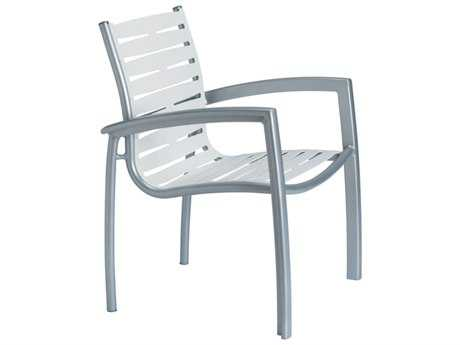 Tropitone South Beach Ribbon Aluminum Stackable Dining Chair