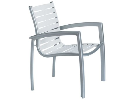 Tropitone South Beach Ribbon Aluminum Dining Arm Chair