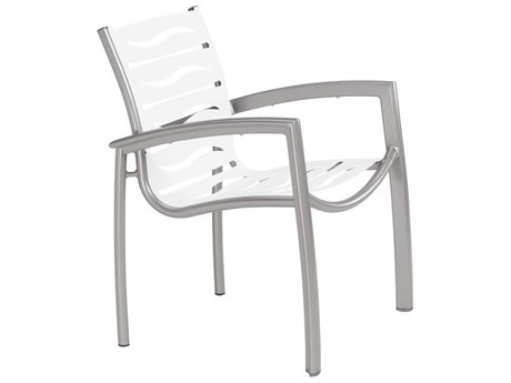 Tropitone South Beach Wave Aluminum Dining Arm Chair