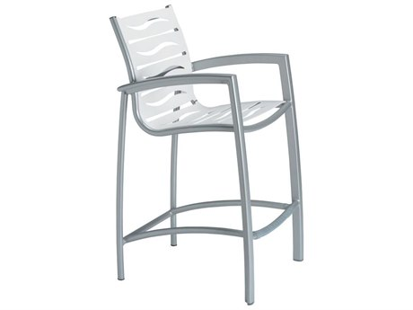 Tropitone South Beach Wave Aluminum Bar Stool