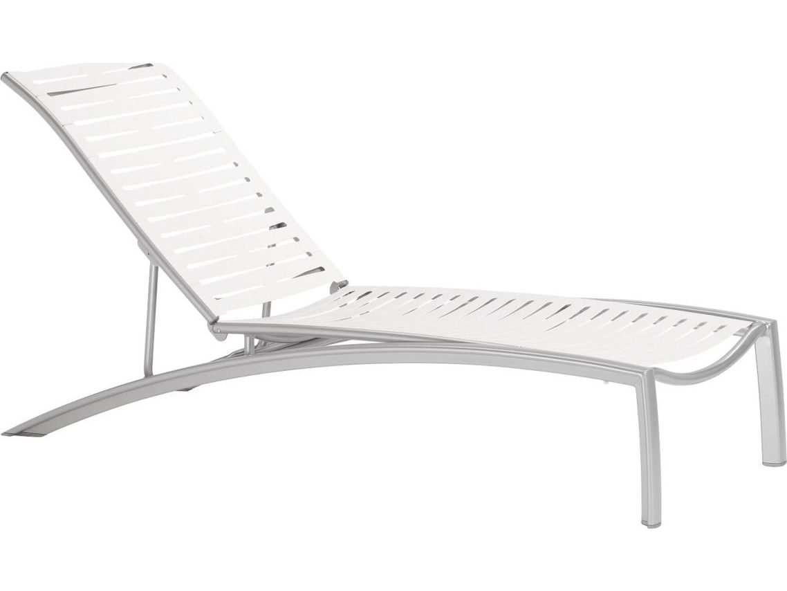 Tropitone south beach ribbon aluminum adjustable stackable for Chaise lounge beach
