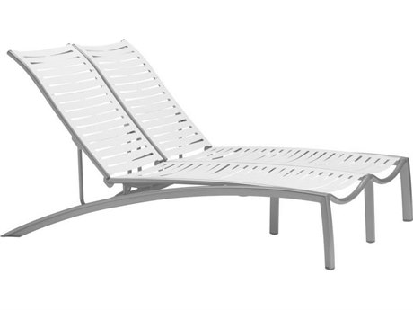 Tropitone South Beach Ribbon Aluminum Double Chaise Lounge