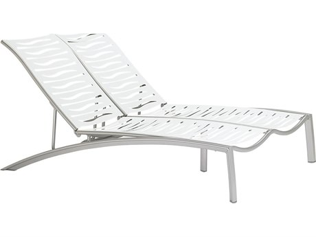 Tropitone South Beach Wave Aluminum  Double Chaise Lounge