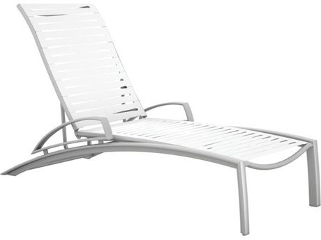 Tropitone South Beach Ribbon Aluminum Chaise Lounge with Arms