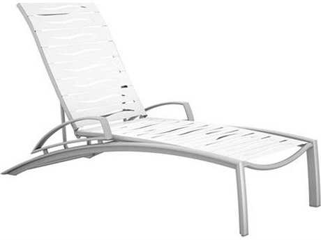 Tropitone South Beach Wave Segment Aluminum Chaise Lounge with Arms