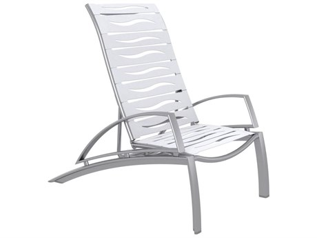 Tropitone South Beach Wave Segment Aluminum Recliner Lounge Chair