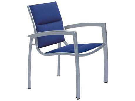Tropitone South Beach Padded Sling Aluminum Dining Arm Chair