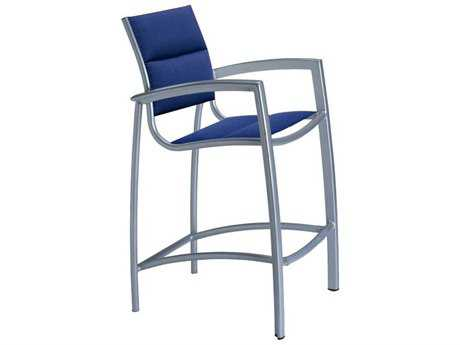 Tropitone South Beach Padded Sling Aluminum Bar Stool PatioLiving