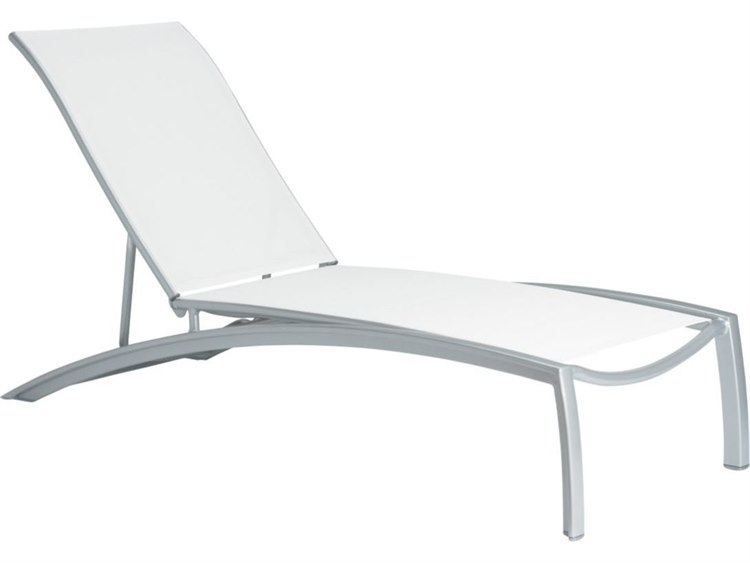 Tropitone South Beach Relaxed Sling Aluminum Chaise Lounge PatioLiving