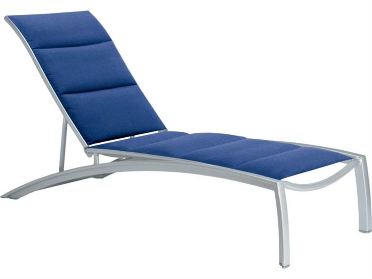 Tropitone South Beach Padded Sling Aluminum Chaise Lounge PatioLiving