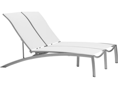 Tropitone South Beach Relaxed Sling Aluminum Double Chaise Lounge