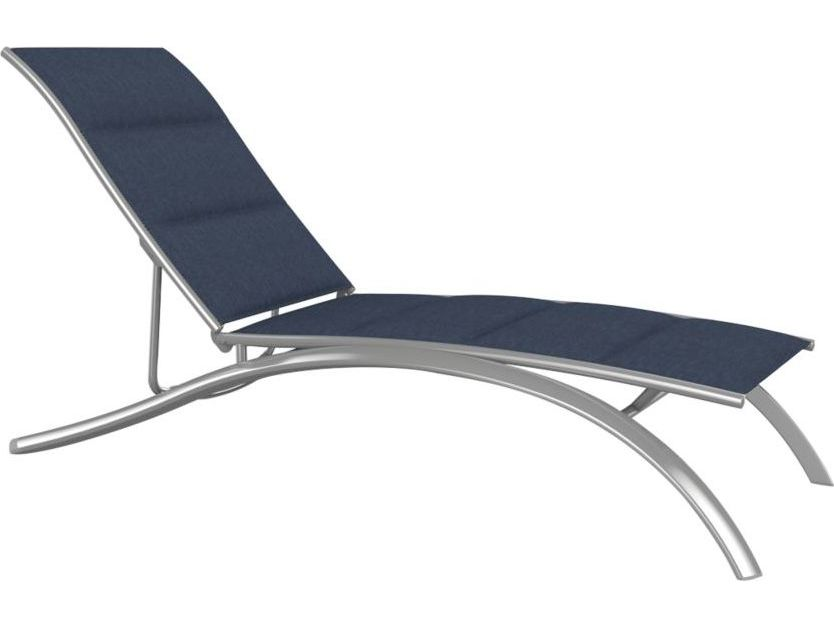 Tropitone south beach padded sling aluminum elite chaise for Beach chaise lounger