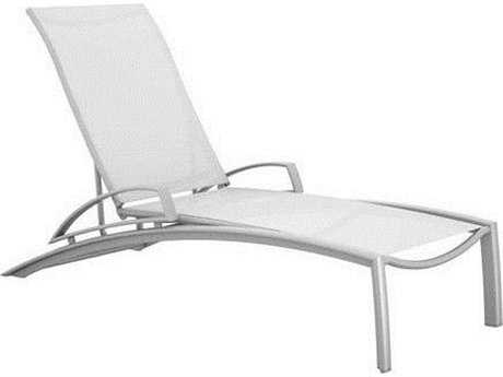 Tropitone South Beach Relaxed Sling Aluminum Chaise Lounge with Arms