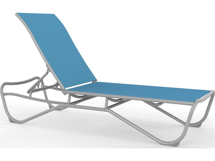 Tropitone Millennia Relaxed Sling Aluminum Stackable Chaise Lounge PatioLiving