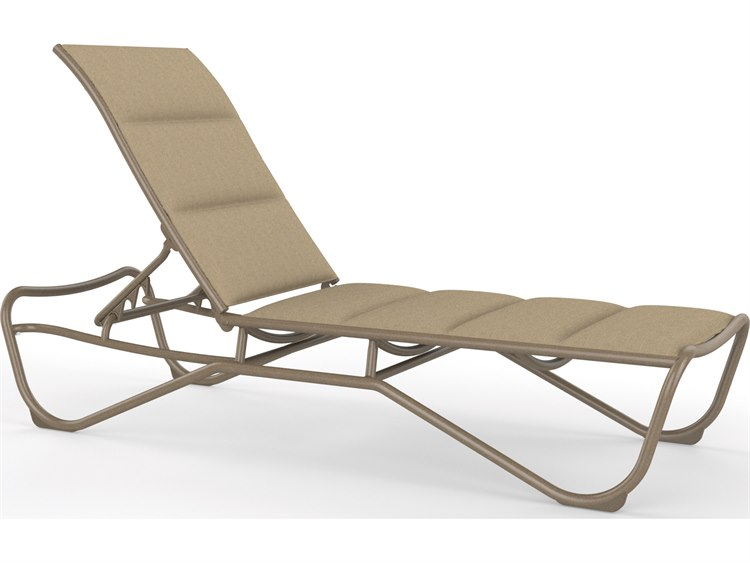 Tropitone Milennia Padded Sling Aluminum Stackable Chaise Lounge PatioLiving