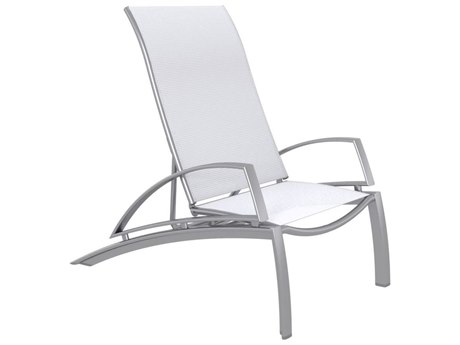 Tropitone South Beach Relaxed Sling Aluminum Recliner Lounge Chair