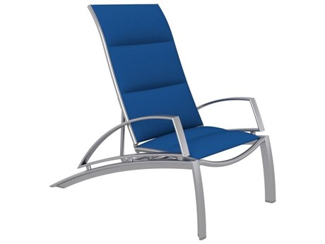 Tropitone South Beach Padded Sling Aluminum Recliner with Arms